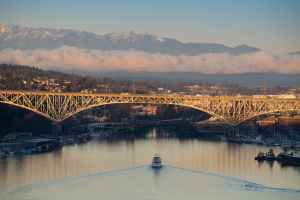 architecture aurora bridge boats bridge